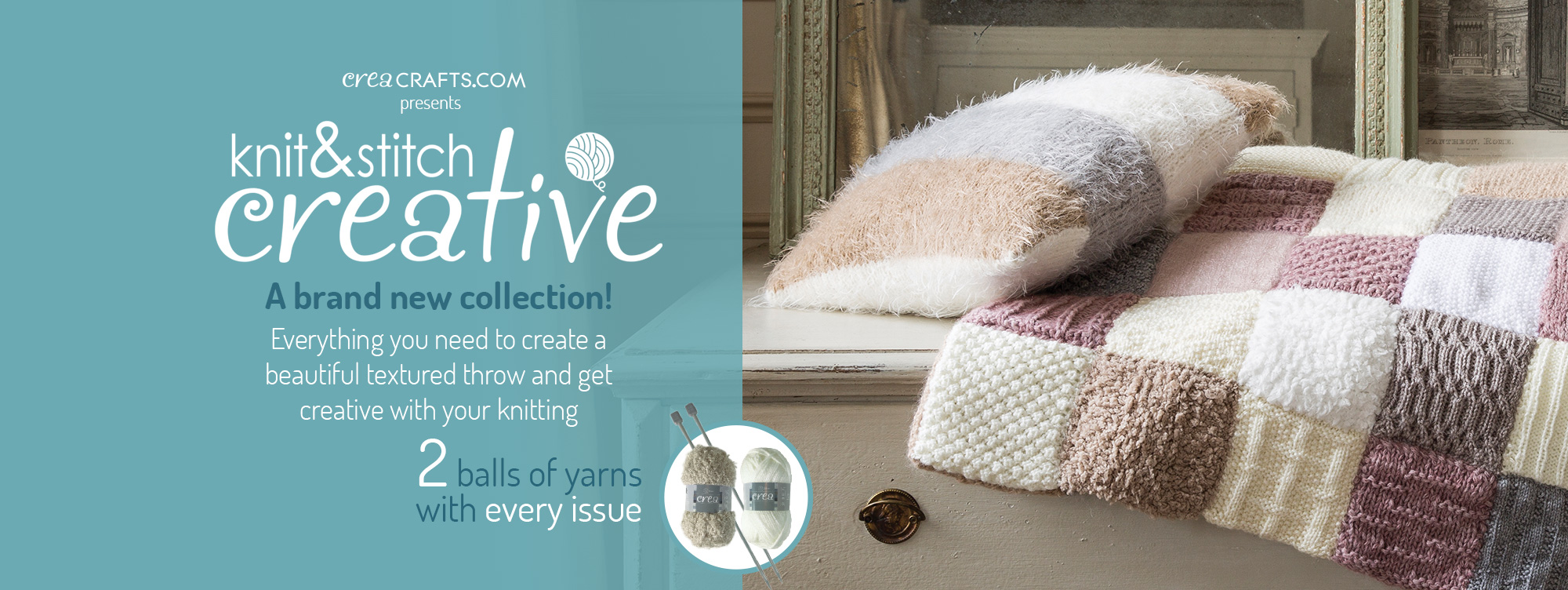 Knit and stitch creative - A brand new collection!